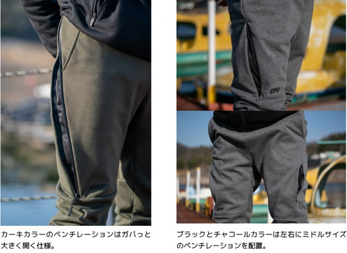 【SETUP】 3LAYER WIND PROTECT HEAT ZIP HOODIE & PANTS