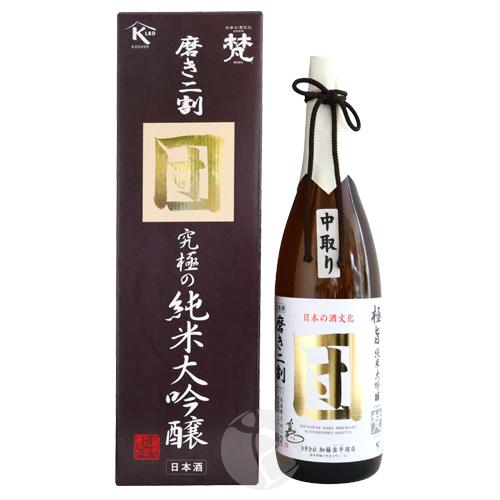 梵 団 磨き二割 中取り 無濾過原酒 究極の純米大吟醸 1800ml 化粧箱入り ぼん だん