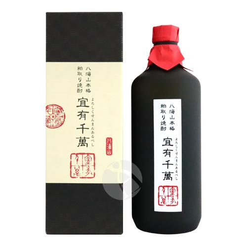 ≪米・酒粕焼酎≫ 八海山本格粕取り焼酎 宜有千萬 40度 720ml よろしくせんまんあるべし