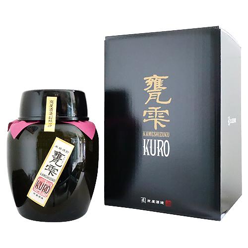 ≪芋焼酎≫ 本格焼酎 甕雫 KURO 1800ml かめしずく くろ