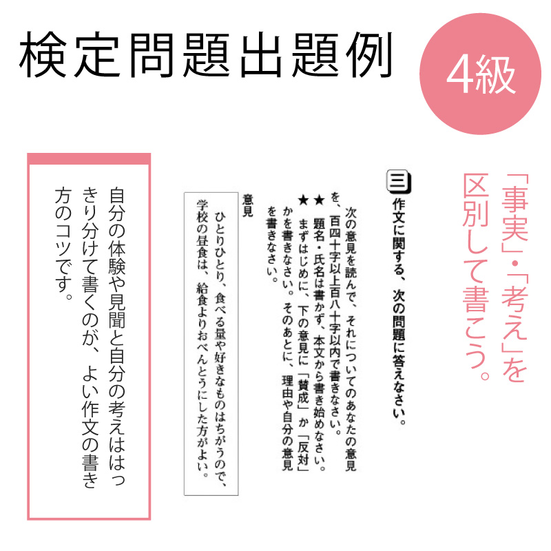作・文・検 受検申込4級