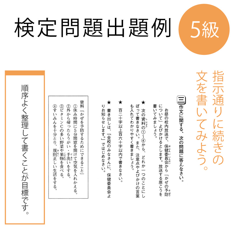 作・文・検 受検申込5級