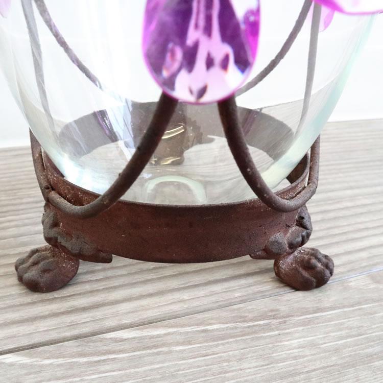 アイアン&ガラスフラワーベース(花瓶)