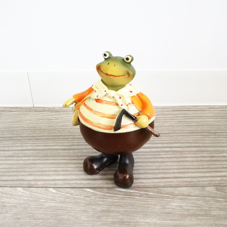 置物 カエル 男の子 オブジェ