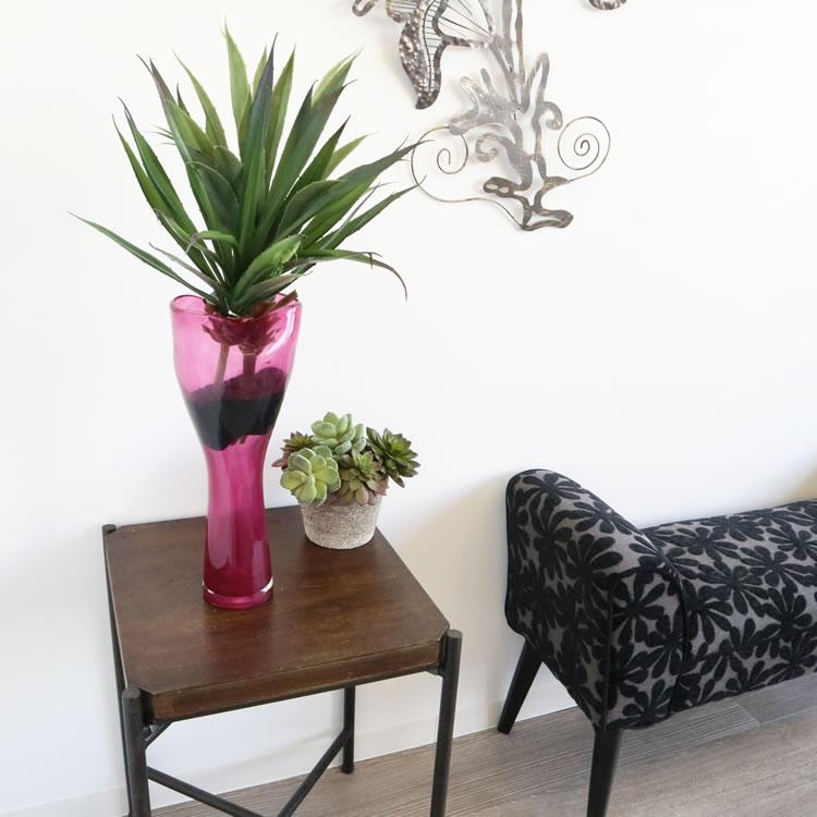 花瓶(ガラス) フラワーベース ピンク