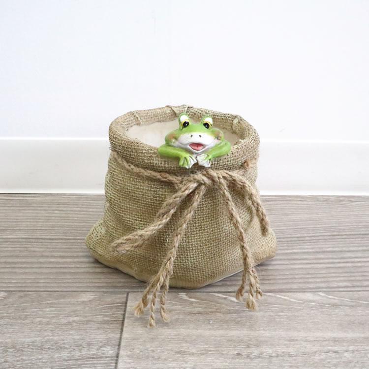 鉢カバー プランター カエル S