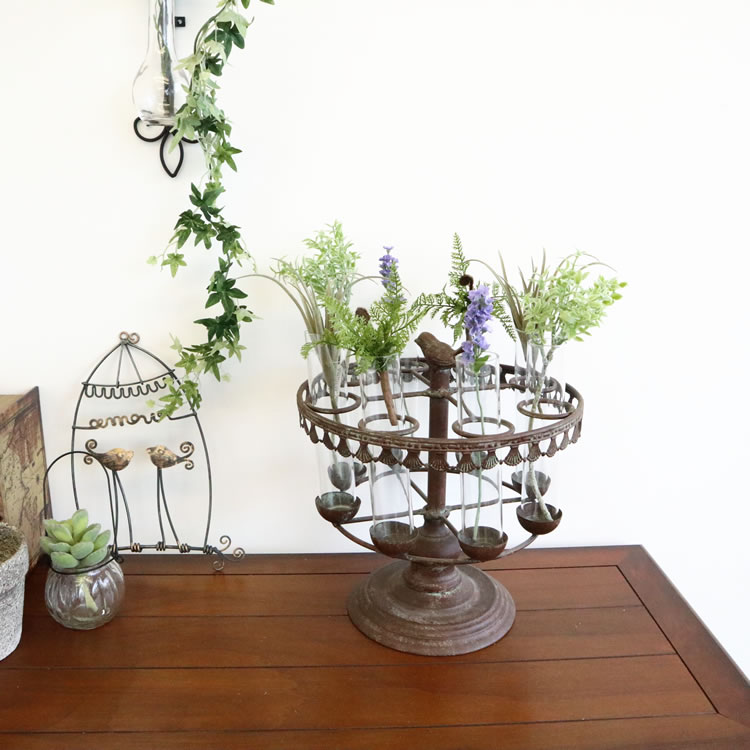 ラウンドビーカーフラワーベース(花瓶)