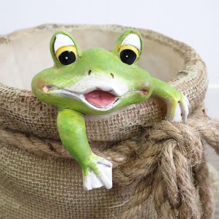 鉢カバー プランター カエル L