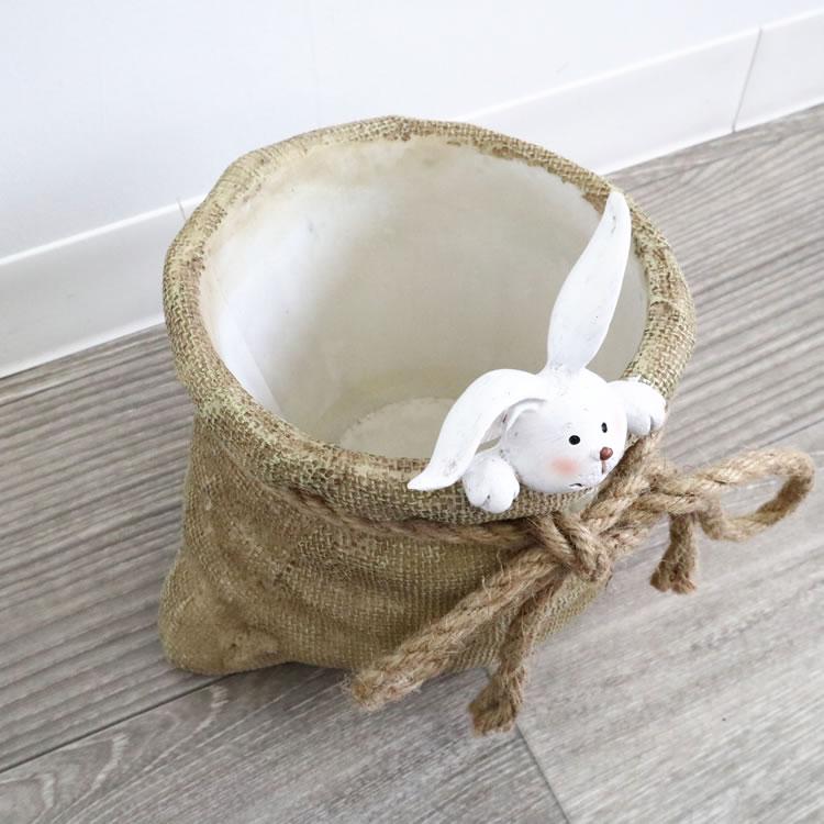 鉢カバー プランター うさぎ L