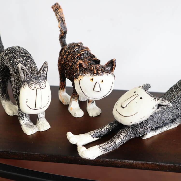 置物 ネコ 6匹セット アートオブジェ