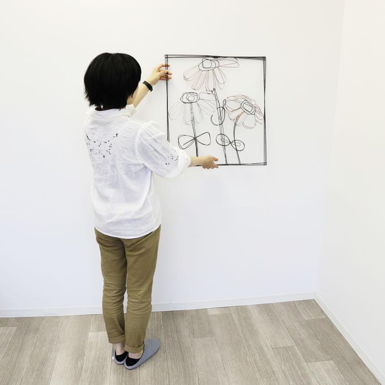壁掛けインテリア ウォールアート花04