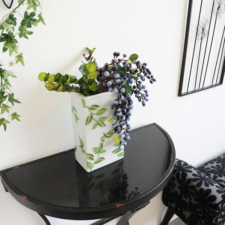 フラワーベース 花瓶 リーフ