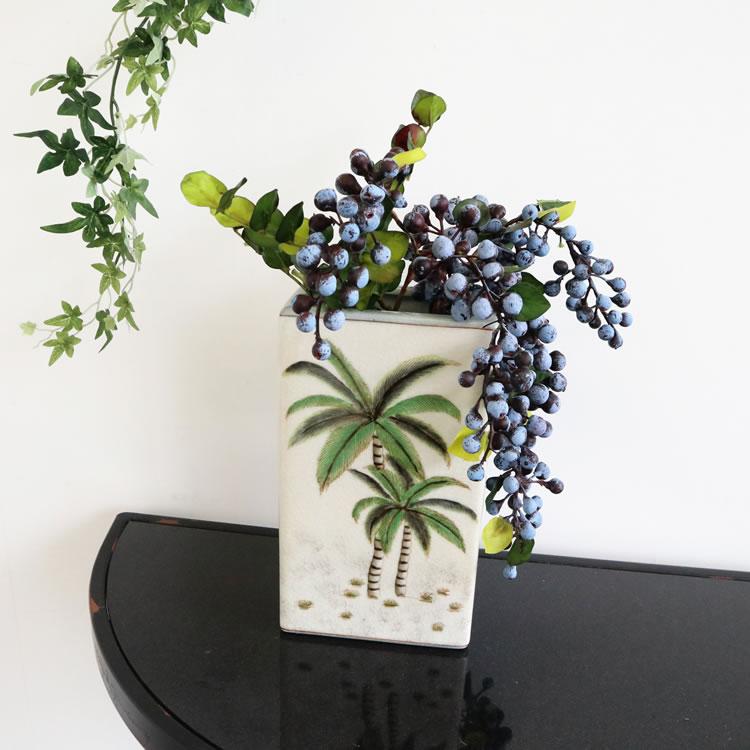 フラワーベース 花瓶 パームツリー ヤシの木