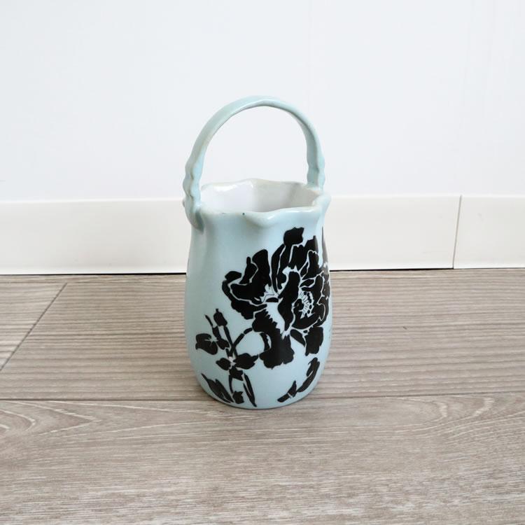 ミニフラワーベース 花瓶 ペン立て ブラックローズ