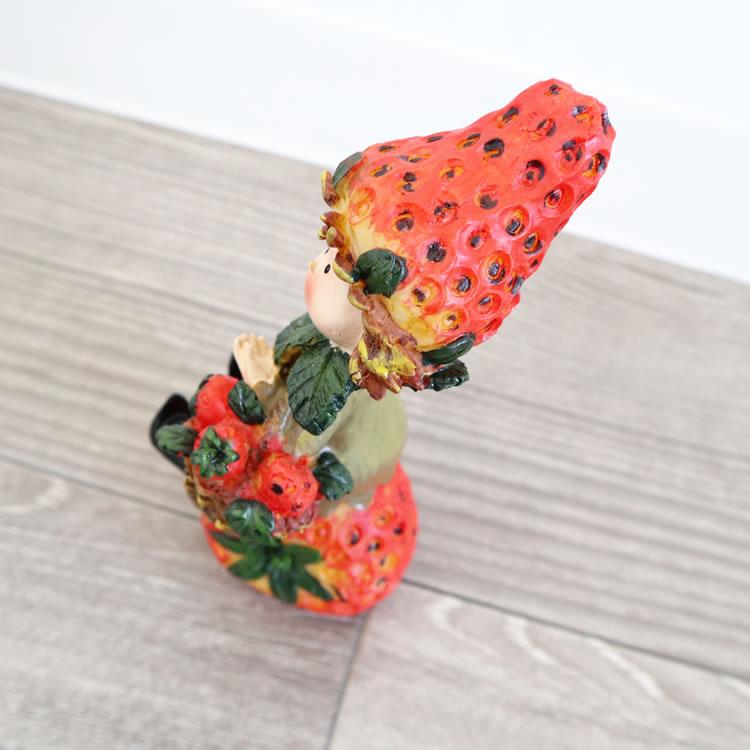 置物 フルーツこびと妖精シリーズ イチゴバスケット
