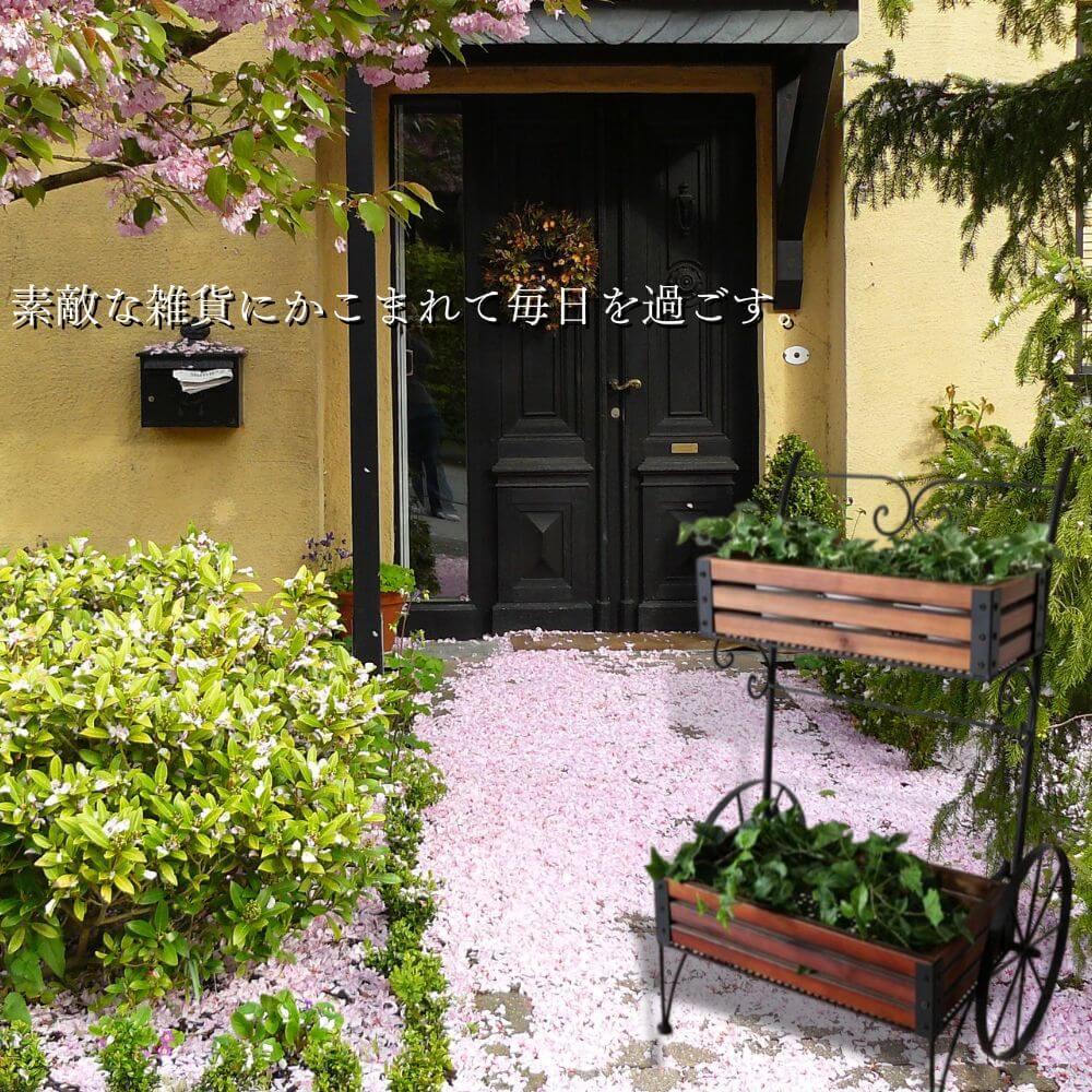 フラワーカート 花台 ガーデニング