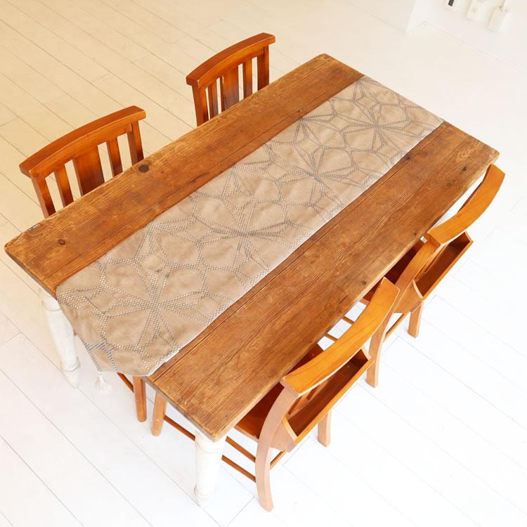 テーブルランナー ベージュ