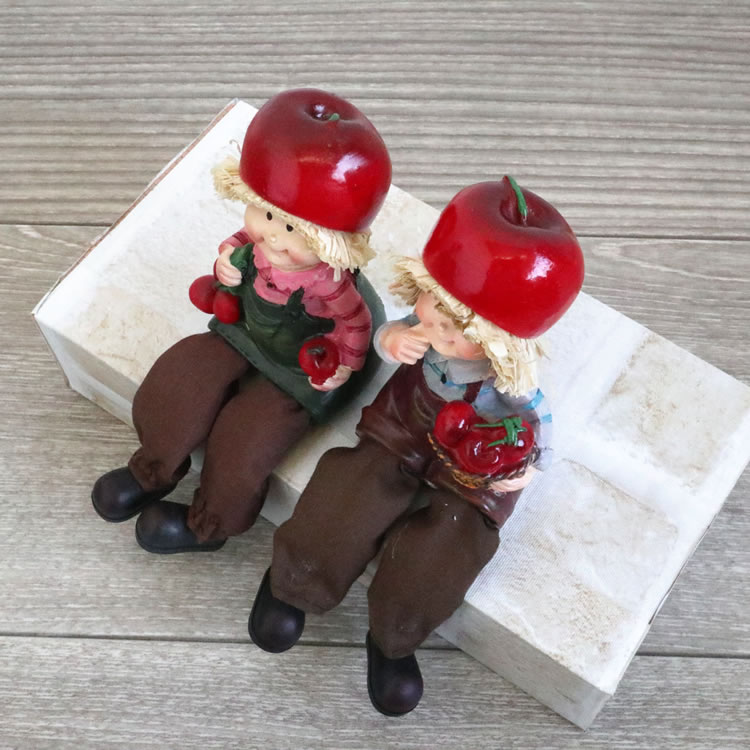 置物 フルーツこびと妖精シリーズ お座りさくらんぼ妖精 人形