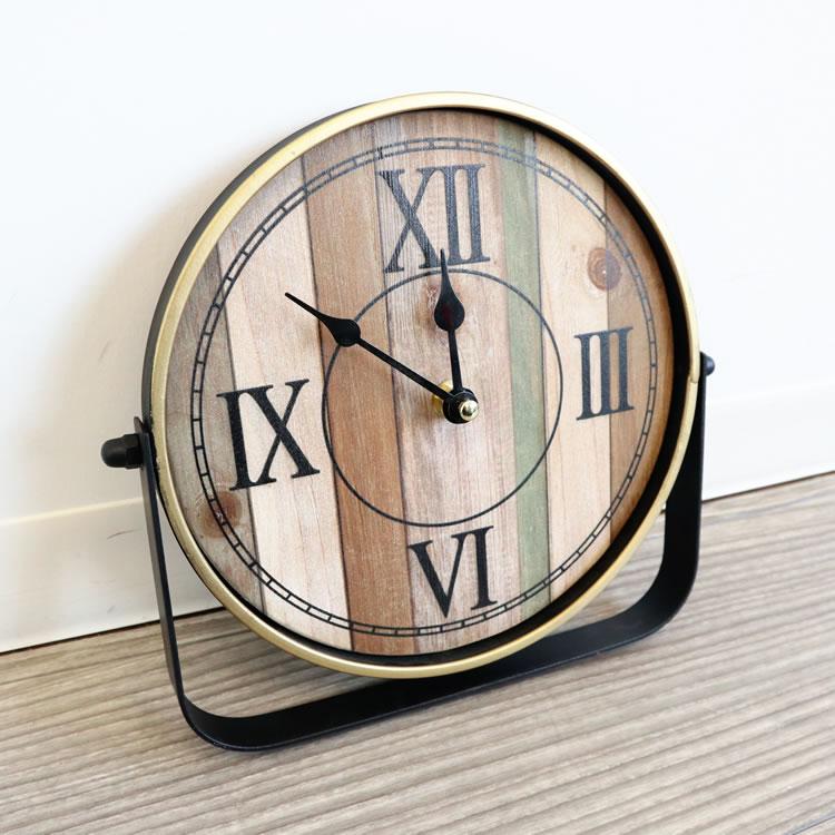 インテリア雑貨 アイアンデザイン置時計001