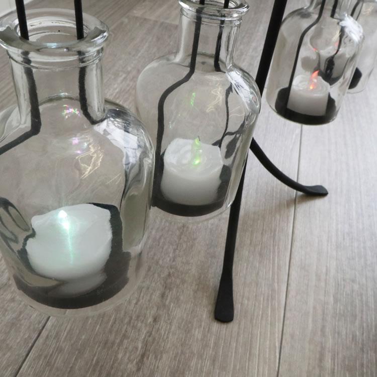 アイアンフラワーベース キャンドルベース(LED付き)