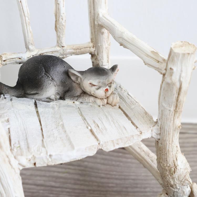 置物 オブジェ 猫&チェアー