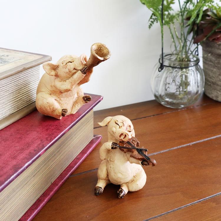 置物 オブジェ コブタ バイオリン