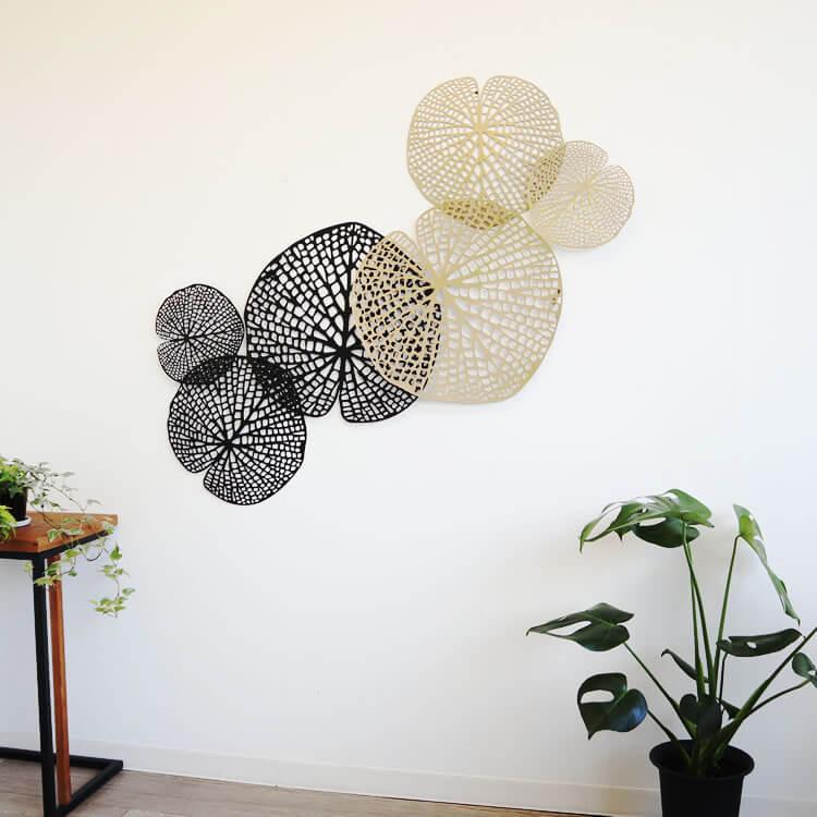 壁 インテリア おしゃれ | 壁掛けインテリア ロータスブラック