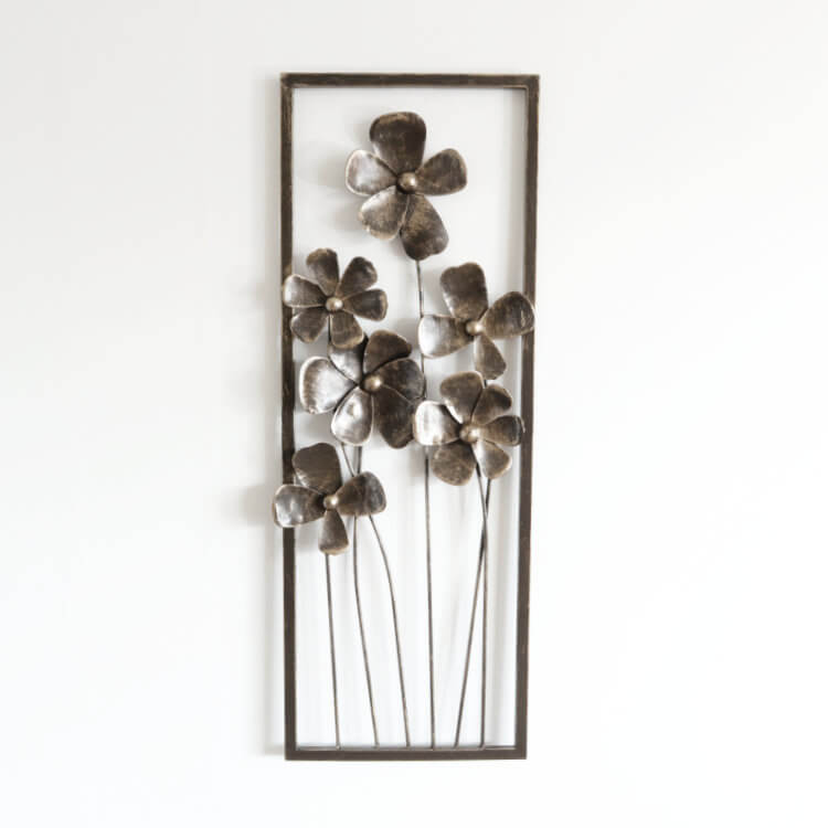 壁 インテリア おしゃれ | 壁掛けインテリア アートパネル6本の花