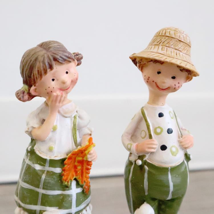 置き物 かわいい 男の子 女の子 人形