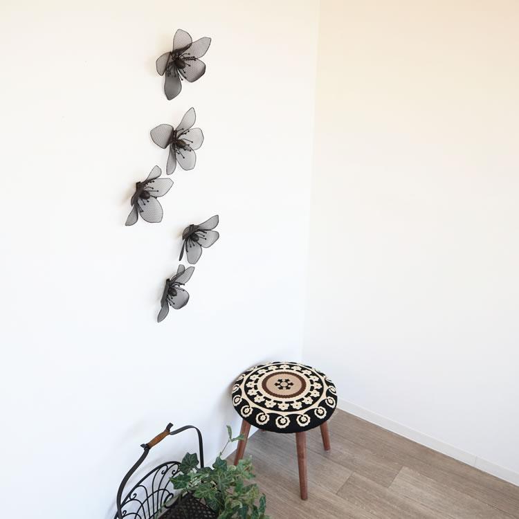 壁 インテリア おしゃれ | 壁掛けインテリア メッシュフラワー