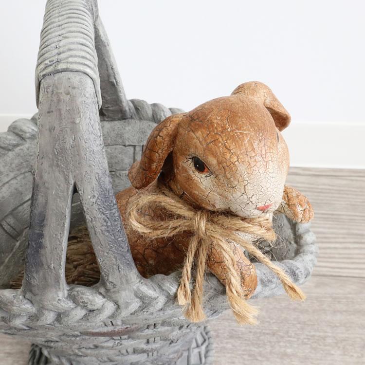 フラワーポット 鉢カバー プランター ウサギ