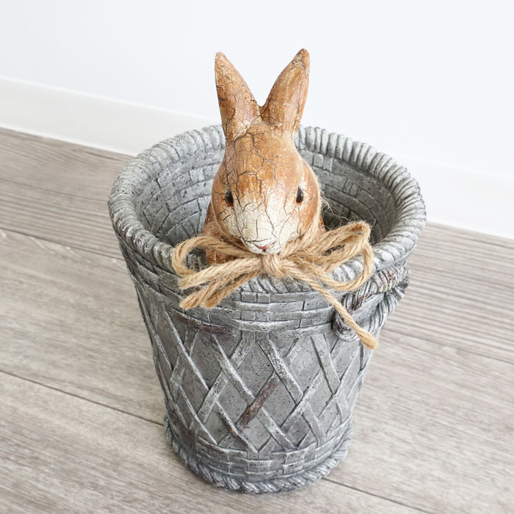 ポットカバー 鉢カバー ウサギ
