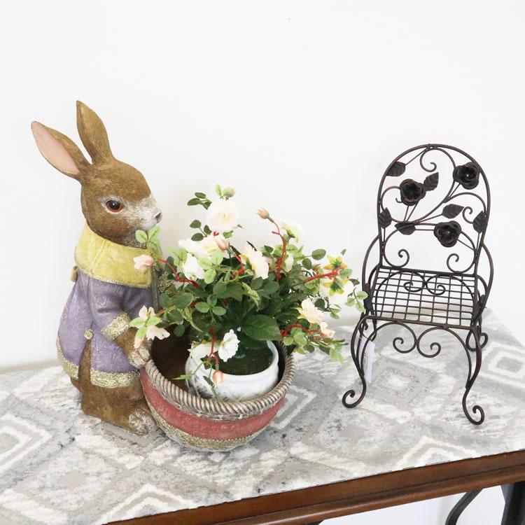 鉢カバー プランター ウサギオブジェ