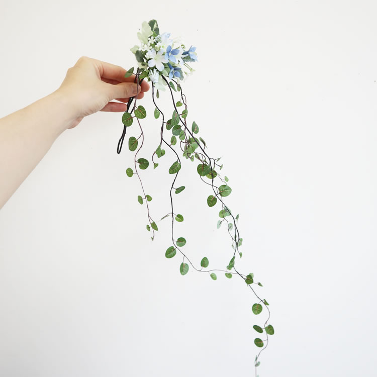壁掛け花瓶 一輪挿し 造花セット ワイヤープランツ
