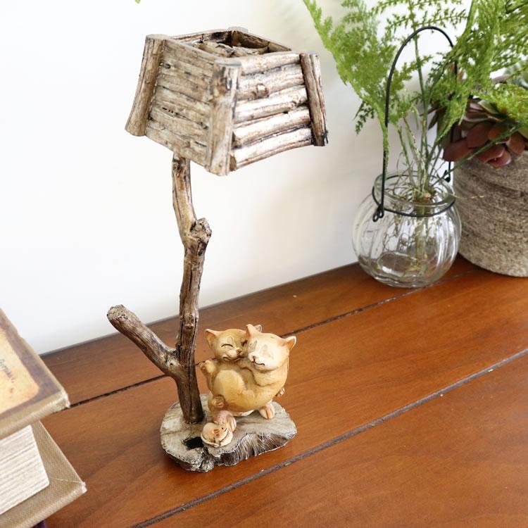 置物 オブジェ 猫&傘
