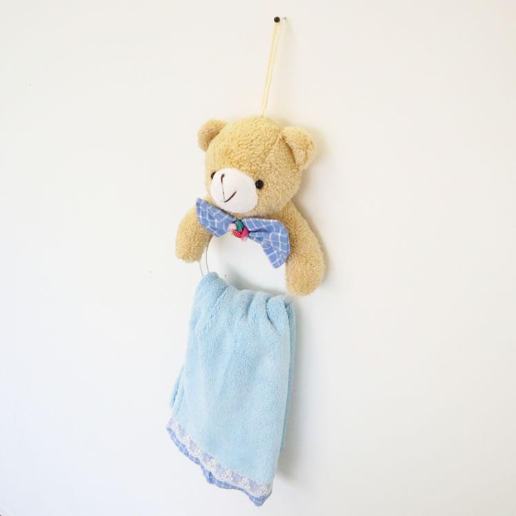 子供が喜ぶタオルハンガー ブルー001