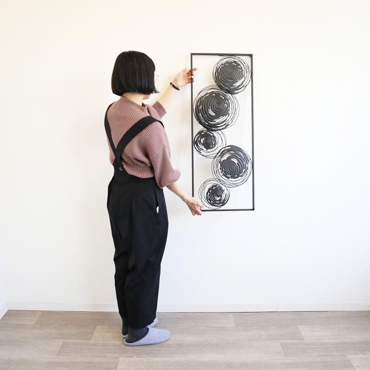 壁 インテリア おしゃれ   壁飾り ウォールアートパネル 5サークル
