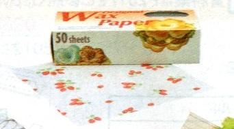 デザインWAXペーパー (50枚入) スタンダードサイズ オールドパリマップ(レッド) PG-91