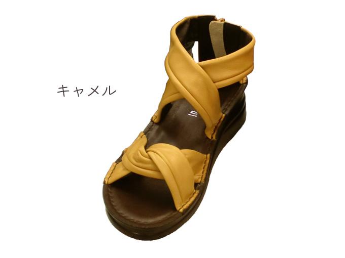 クロスベルトサンダル☆本革☆日本製☆No.4037