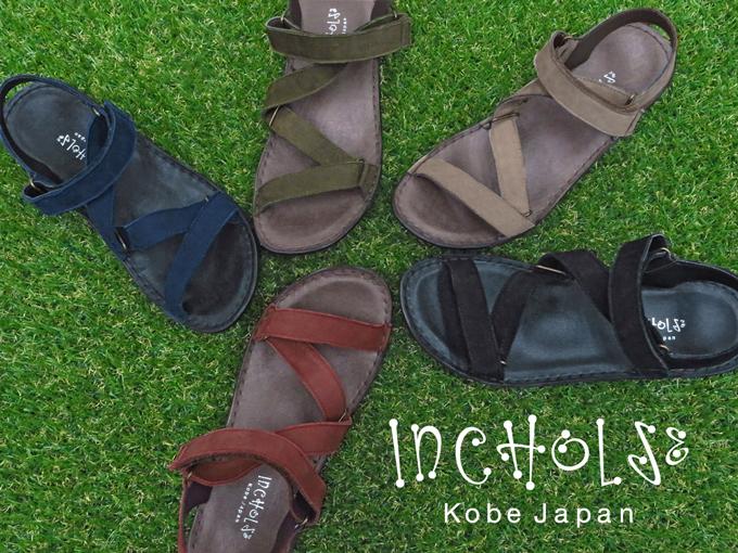 【INCHOLJE-インコルジェ-】【2020夏新作】No.8874☆ベルトラインフラットサンダル☆本革☆日本製