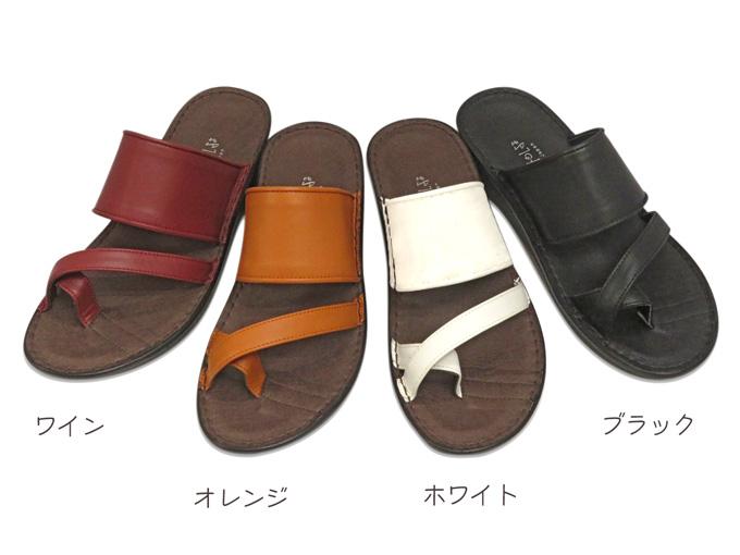 【INCHOLJE-インコルジェ-】【2020夏新作】No.8886☆フラットトングサンダル☆本革☆日本製