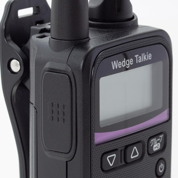 【セール価格】インカム 業界クラス最安最小!特定小電力トランシーバー ウェッジトーキー WED-NO-001 1台 単品 Wedge Talkie WedgeTalkie