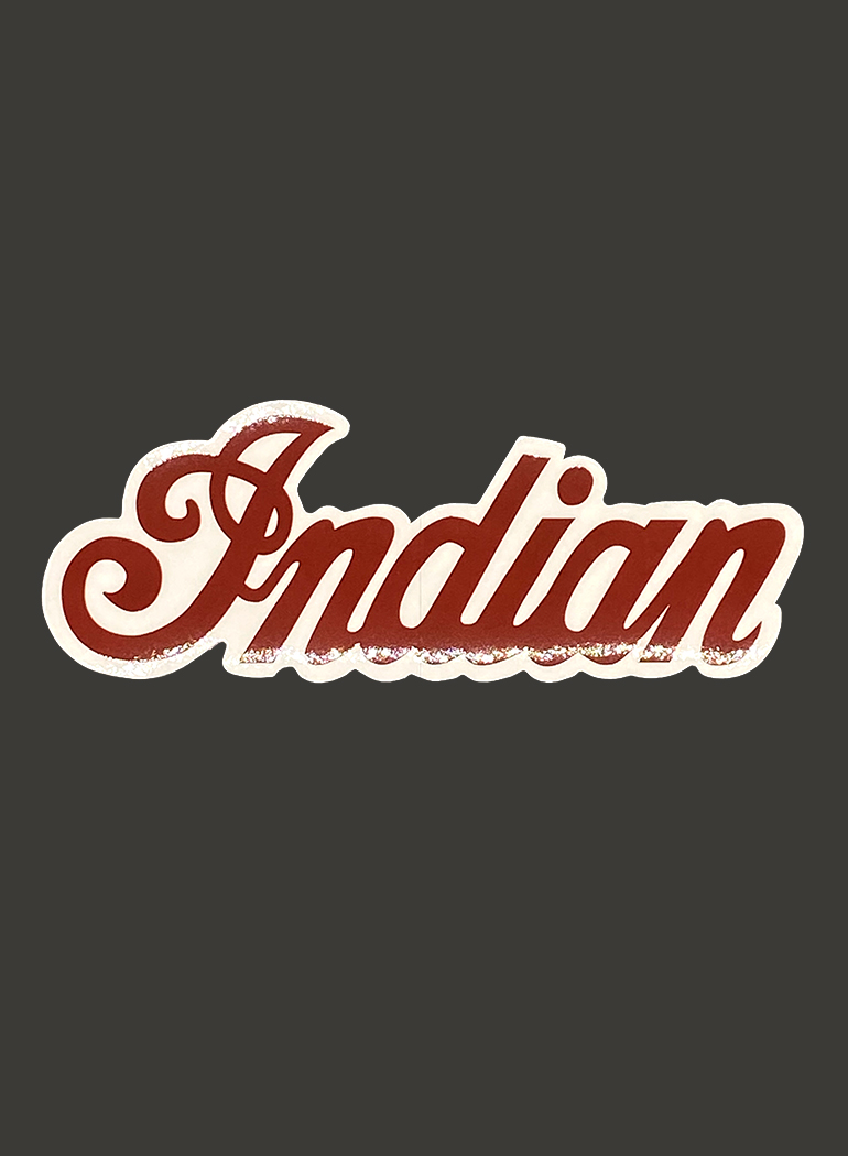 インディアン ステッカー - ロゴ -