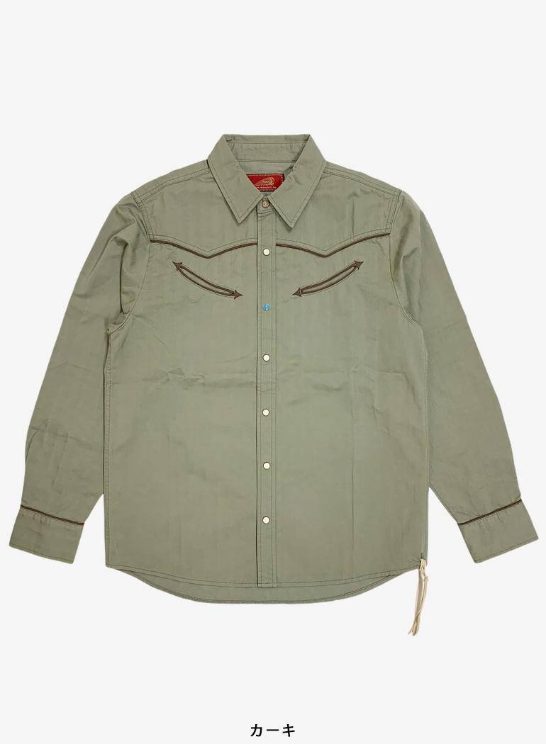 Herringbone Piping Western Shirt
