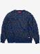 "Lynx Jacquard Crew Neck Sweater ""Tipi"""