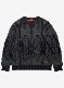 "Lynx Jacquard Crew Neck Sweater ""Navajo"""