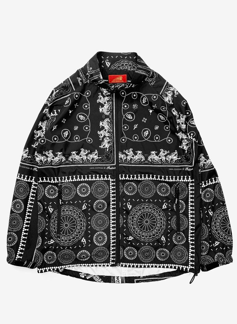 """Hybrid Zip-up Jacket """"Bandana Patchwork"""""""
