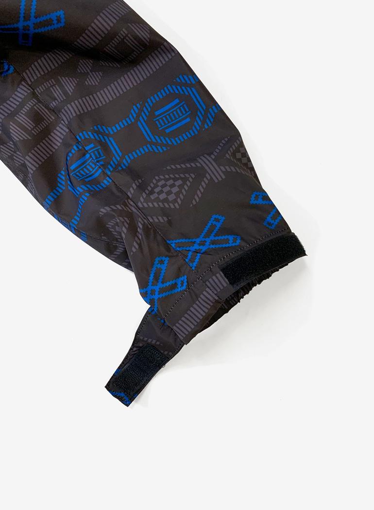 "Hybrid Zip-up Jacket ""Geometric"""