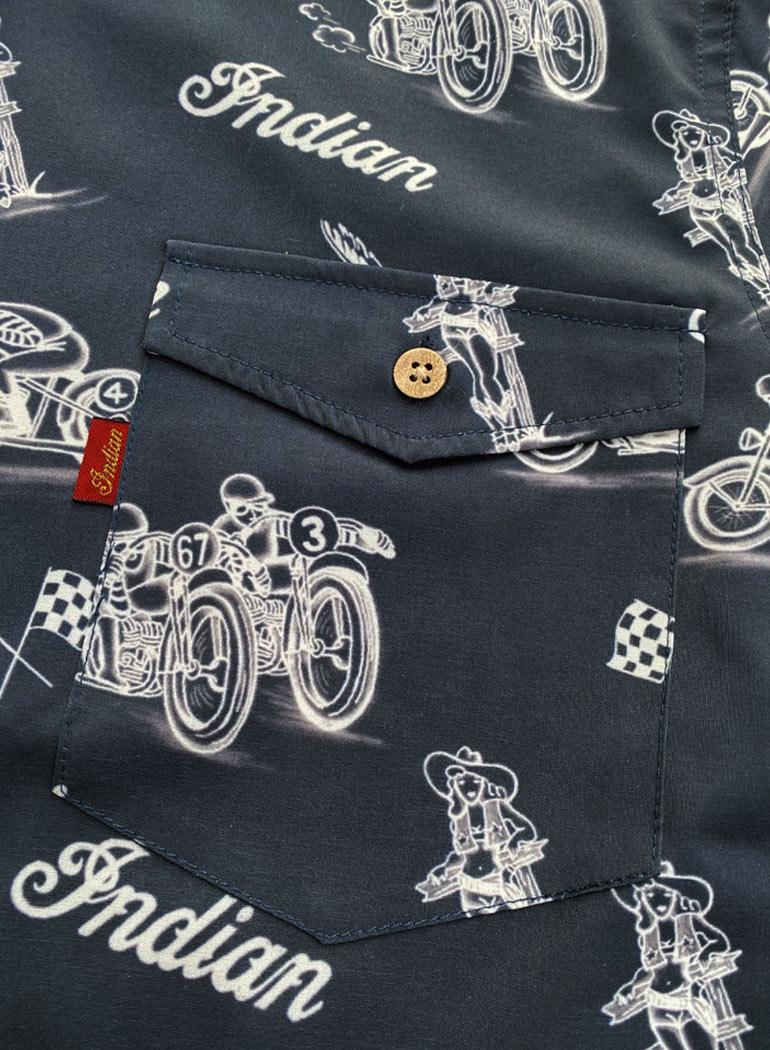 """オープンカラーシャツ """"Bike"""""""