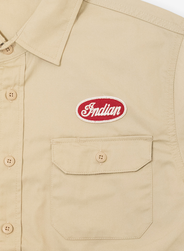 "S/S Patch Work Shirt ""Twill"""